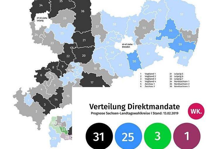 Aktuelle Wahlkreisprognose
