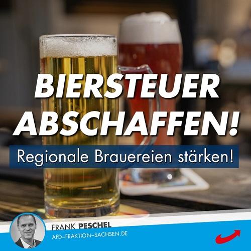 Biersteuer abschaffen: Regionale Brauereien stärken!